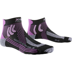 X-Socks Marathon Retina Chaussettes Femme, black/twyce purple